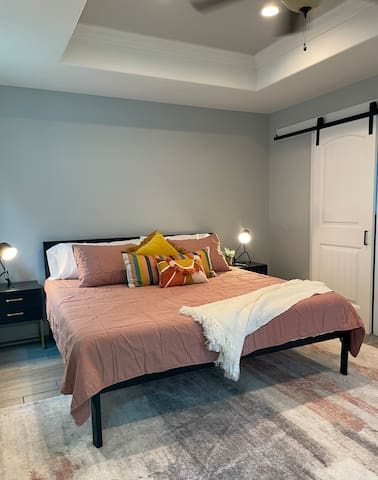 Master Bedroom with King size bed - located on the main floor