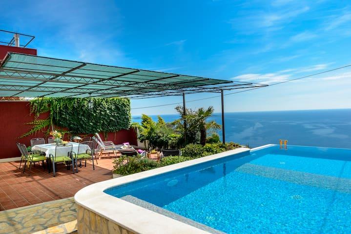 Infinity pool villa with sea view near Dubrovnik - Čibača - Villa