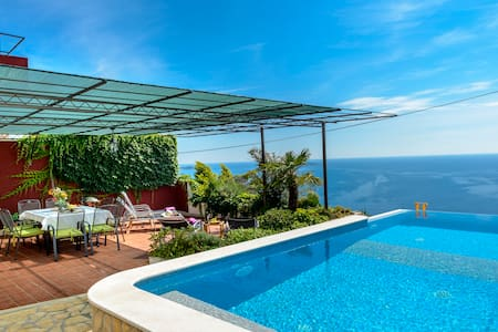 Infinity pool villa with sea view near Dubrovnik - Čibača
