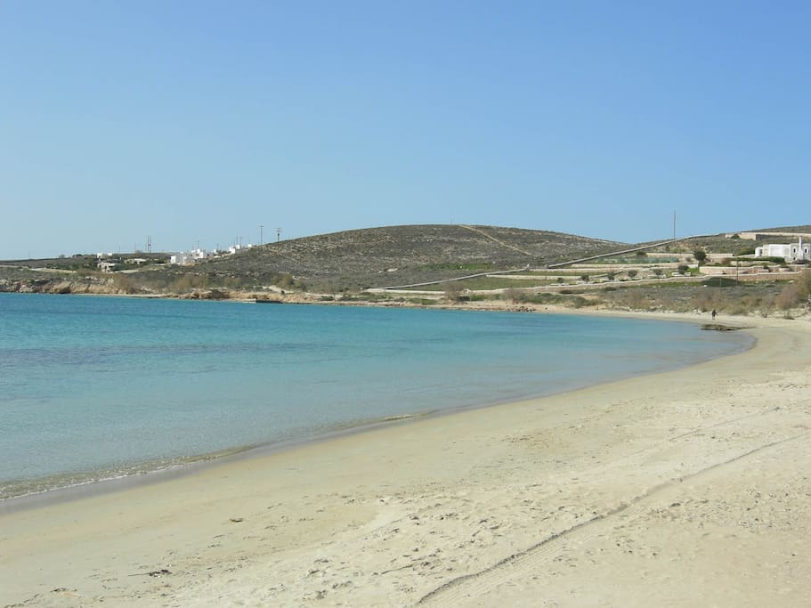 The beach of Krios, 15meters away.