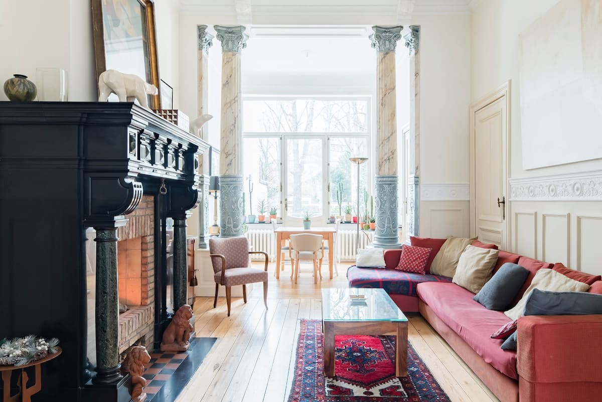 B&B with a Garden View in a Stunning Art Nouveau House