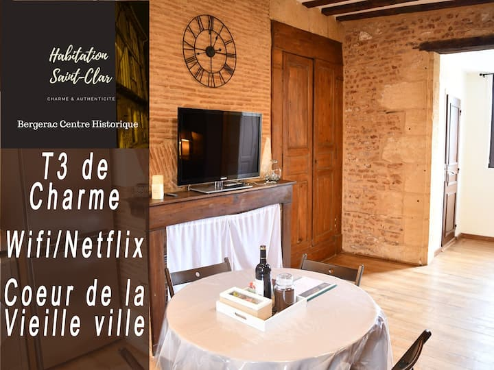 Centre Historique-T3 de charme rénové-WIFI/Netflix