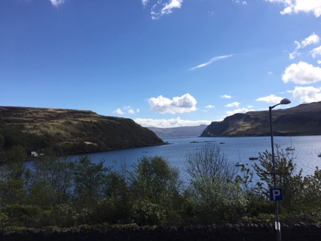 Beautiful views from the house overlooking Ben Tianavaig, The Black Rock and Portree Bay.