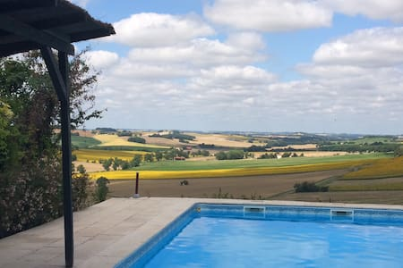 Lovely house, private pool and a fantastic view