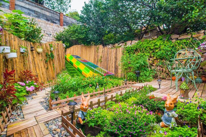 【杏合】私家花园|度假|沙滩|烧烤|滑梯