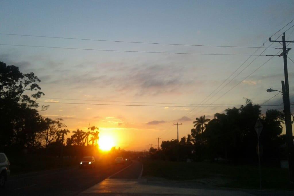 Beautiful Belmopan sunset
