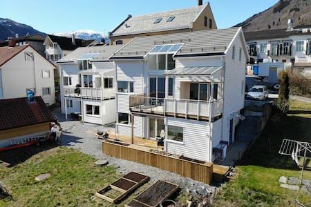 Modern fjord apartment In the center of Sogndal.