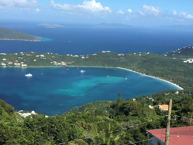 World Famous Magen's Bay Beach  1 mile down road from Villa!