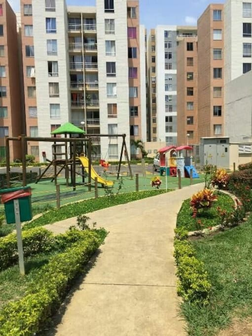nice park and green zones inside and outside of the property