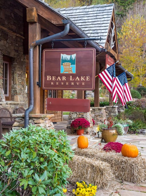 Welcome to Bear Lake!  The Greeter's Cottage is your first stop, and is staffed between 7 AM - Midnight daily.