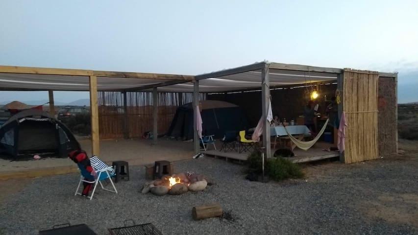 Parcela para acampar en la inmensidad