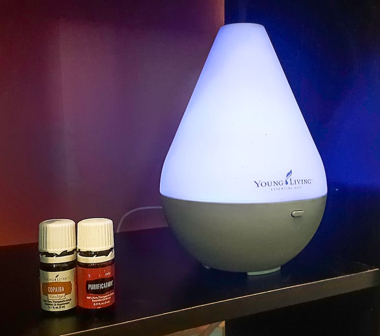 The room will welcome you with a variety of gorgeous essential oil scents