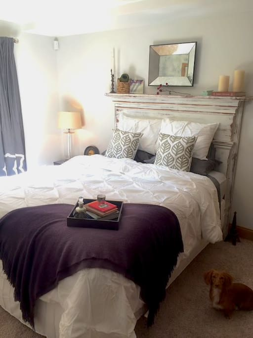 The guest room is by far the most tranquil room in the house.