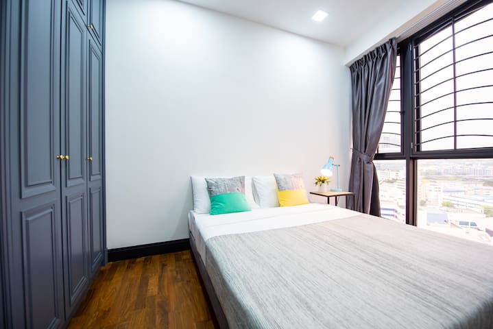 Your own private bedroom with a double bed