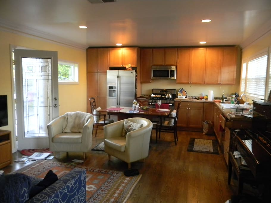 View of Kitchen and partial living rm