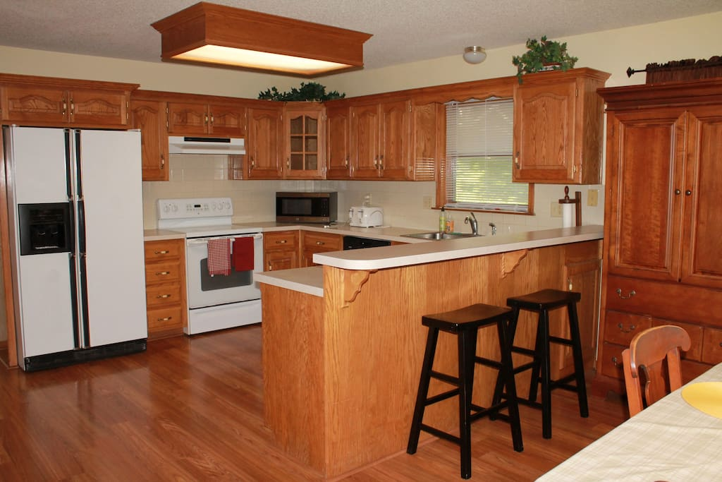 Open and spacious kitchen area
