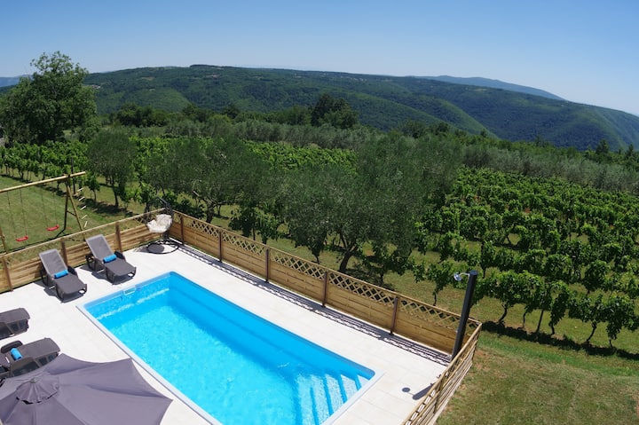 Apartment Jadranka with pool and magnificent view