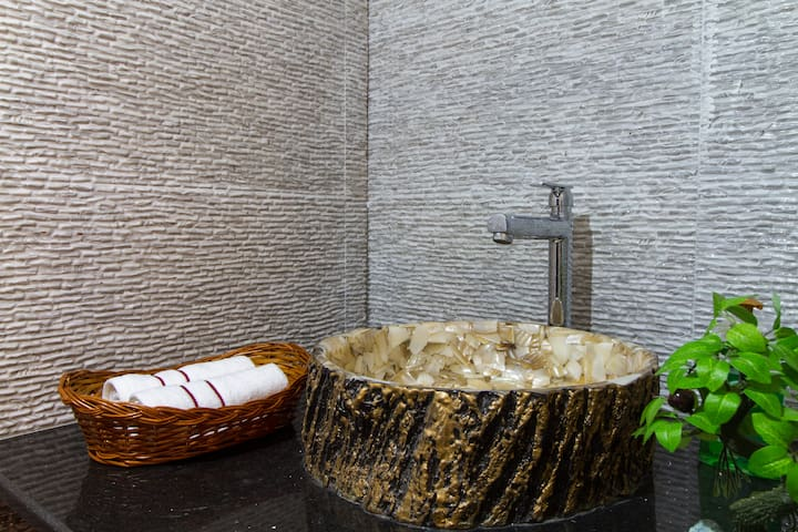 Exotic wash basin in the Lounge