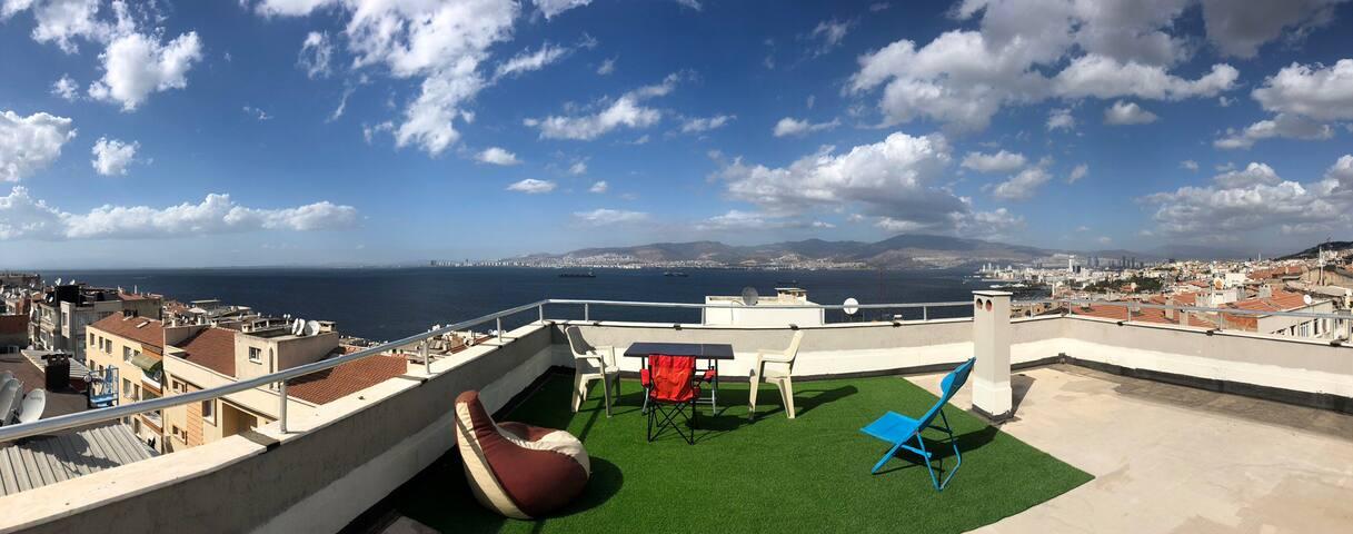 Panaromic sea view & amazingly spacious terrace