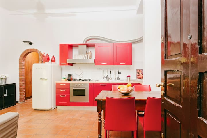 the kitchen as seen from the entrance