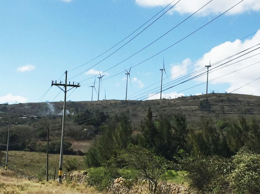 Santa Ana has a nice view, Windmills create a peaceful environment. Time to chillout this town is windy, so take your jacket.