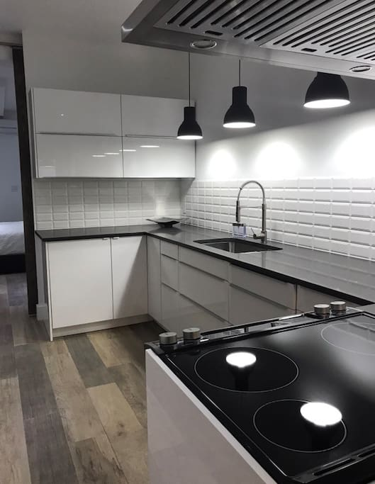 Spacious modern kitchen will all appliances