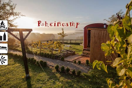 Comfy artisan waggon at the Rheinsteig® - Lykershausen - Hut