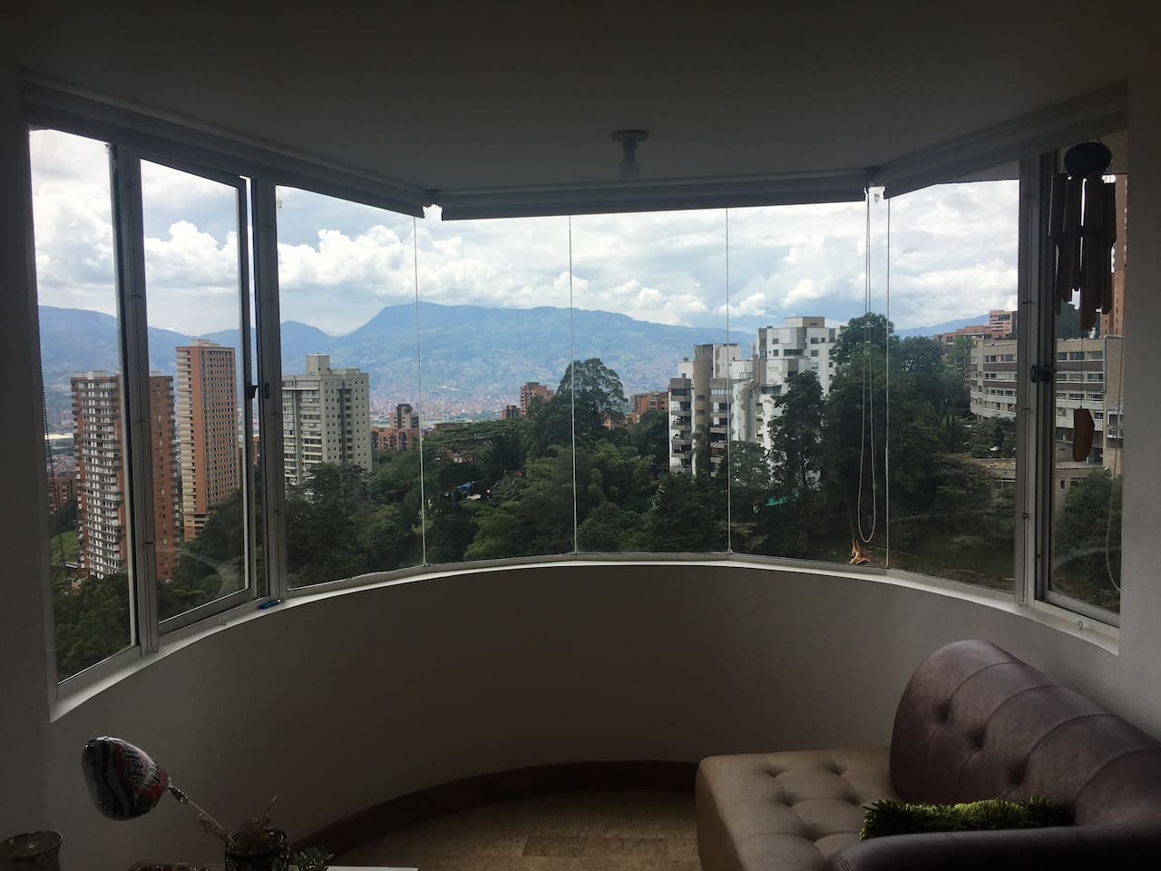 Panoramic view to the city of medellin