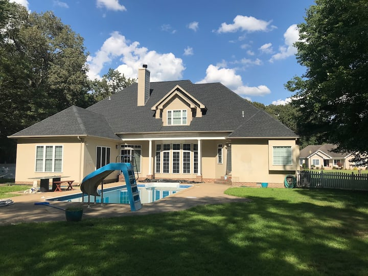 Lovely spacious home with private heated pool