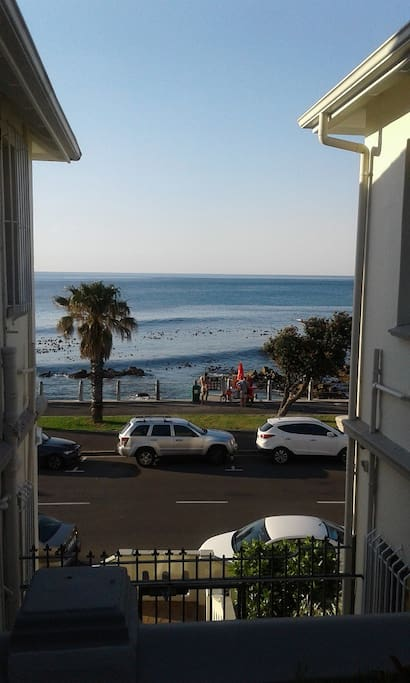 The flat is across the road from the beach, in a quiet windfree area but close to all amenities.