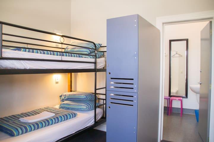 4 Bed Mixed Dorm Shower - YHA Christchurch