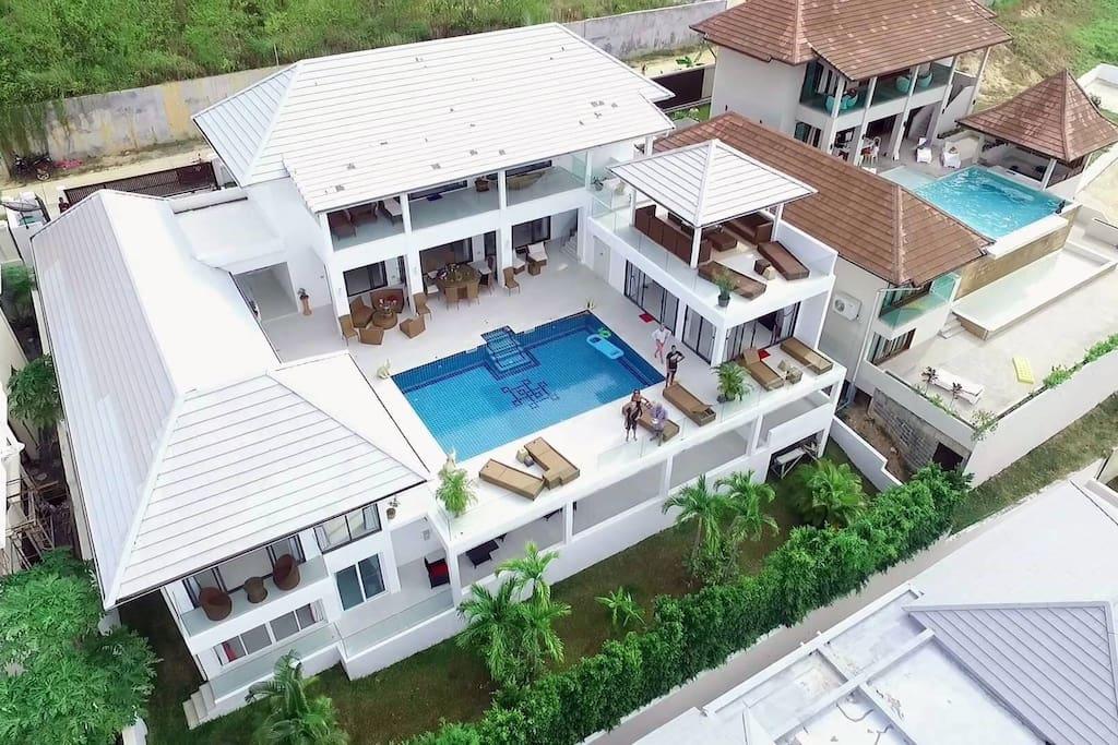 Vue aerienne villa