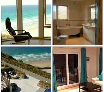 New luxury boutique beach view b&b with parking! - Perranporth