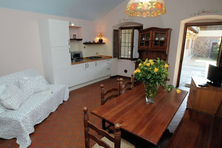 Apartment in the Franciacorta, with covered terrace and shared swimming pool