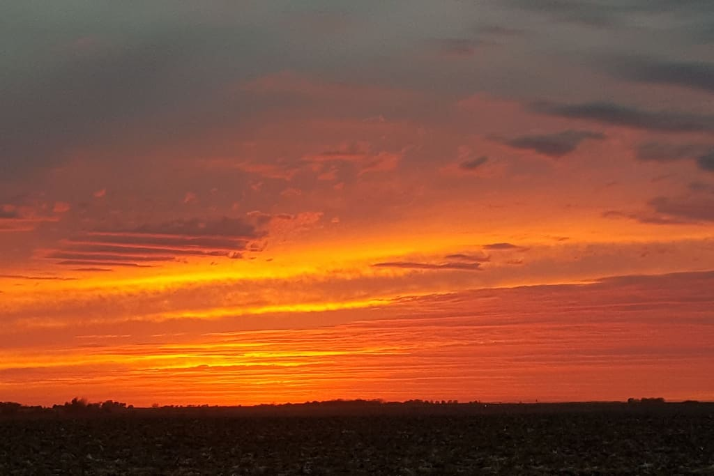 One of Nebraska's beautiful sunsets