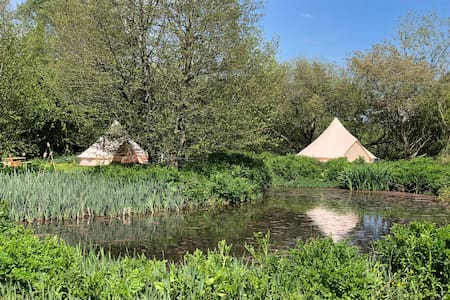 Bell Tents In A Hidden Valley.@Grange Springs T1