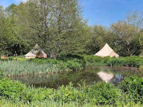Bell Tents in a Hidden Valley @ Grange Springs T2