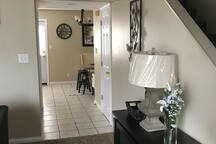 Quick view of the hallway leading into the kitchen & bathroom area