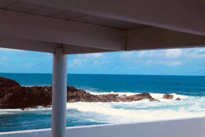 Seafront apartment, private  roof terrace,  wifi