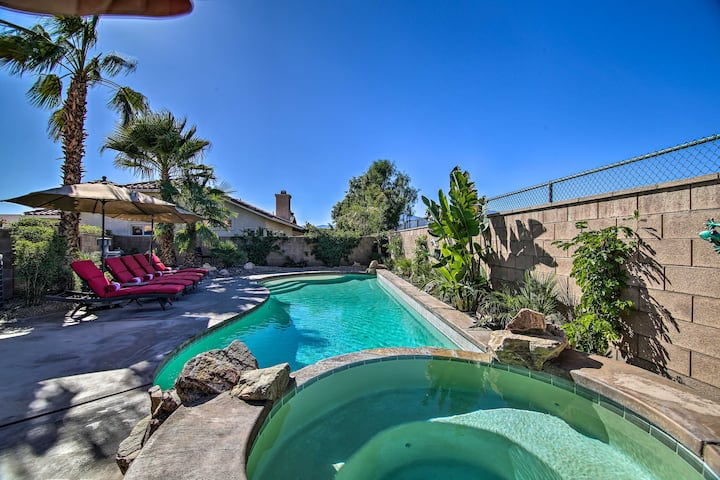 La Quinta Home w/ Saltwater Pool, Hot Tub & Yard!