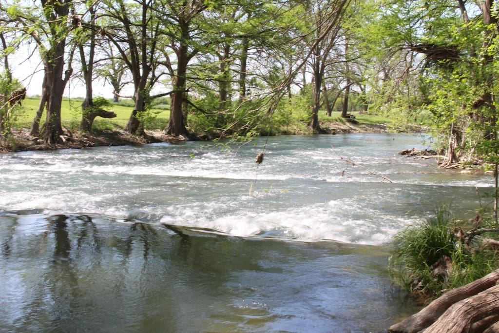 Guadalupe River Access - Walk Down the Large Lawn to See the Guadalupe River