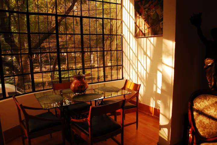 Cosy quiet Condesa flat overlooking Parque Mexico.