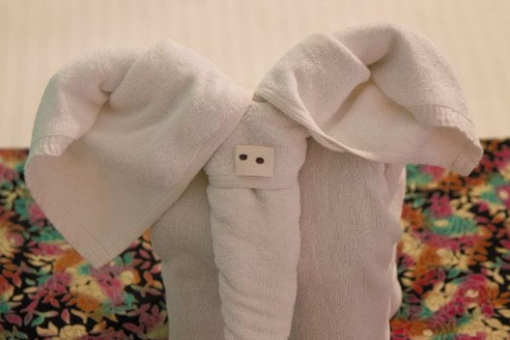The elephant towel :)