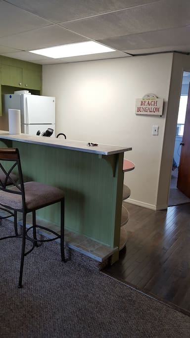 kitchen with counter top eating