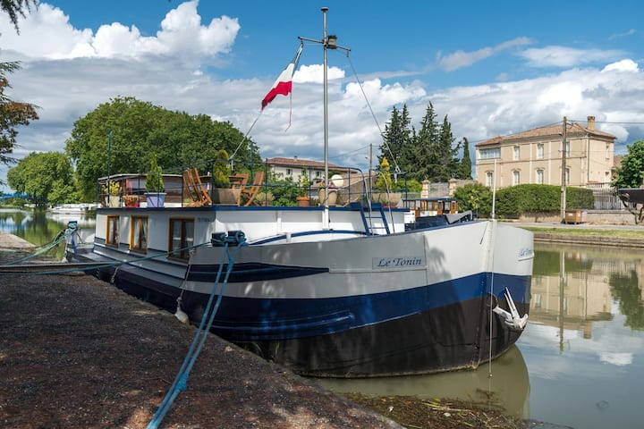 Comfortable House Boat in Homps with Roof Terrace