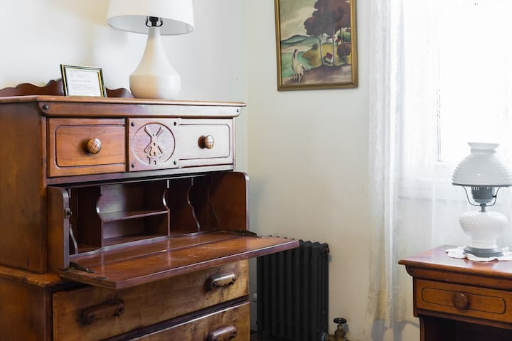 This is the desk in your room - vintage Dutch Maple