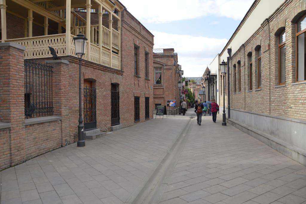 Facade and street