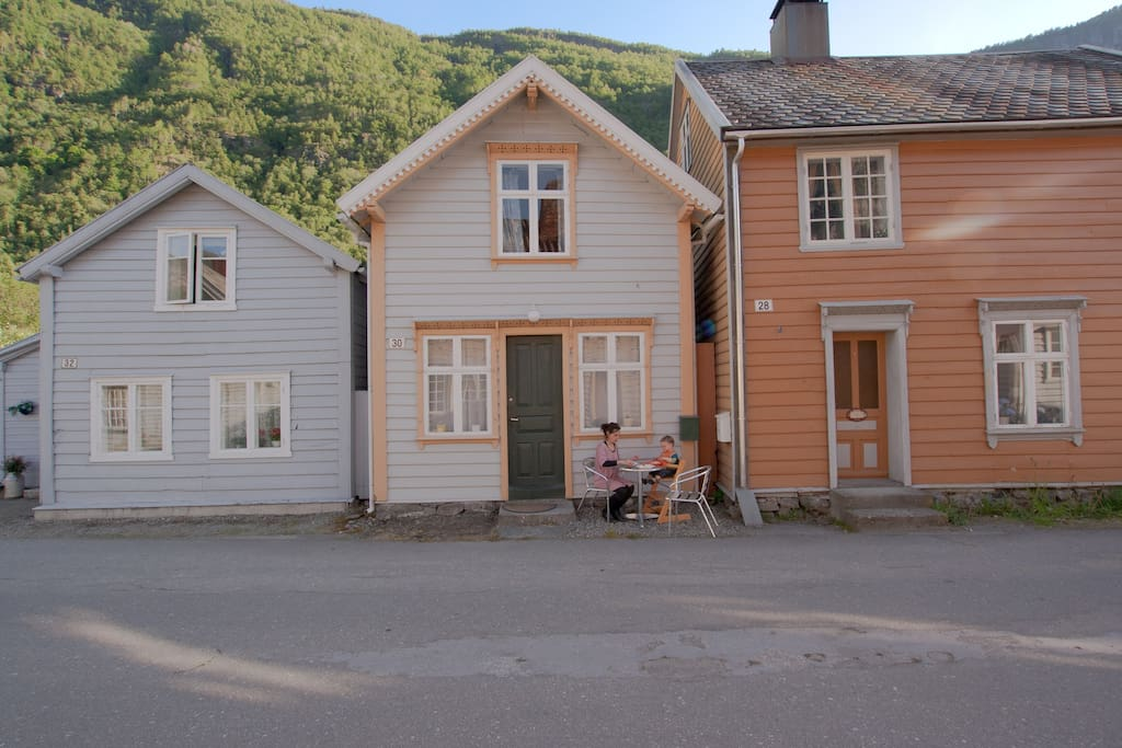 Our holiday home on the old main street, now pedestrian area