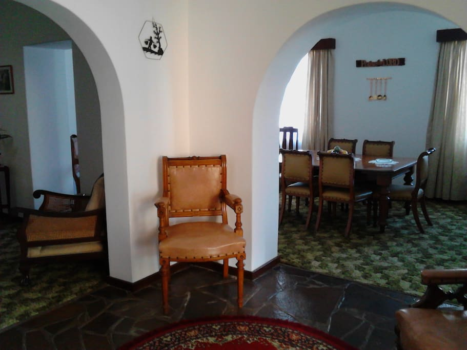 Entrance Hall, diningroom and part of Lounge
