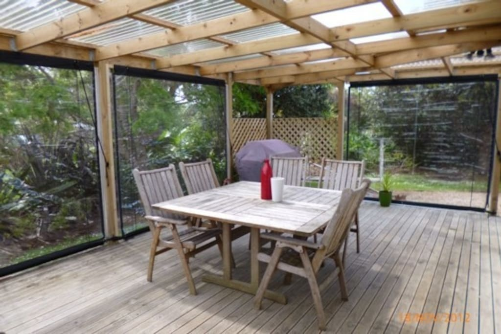 Covered outdoor deck